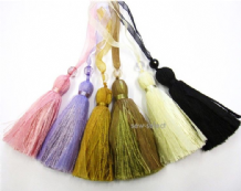 Pretty beaded ribbon key tassel Fabric blind decoration
